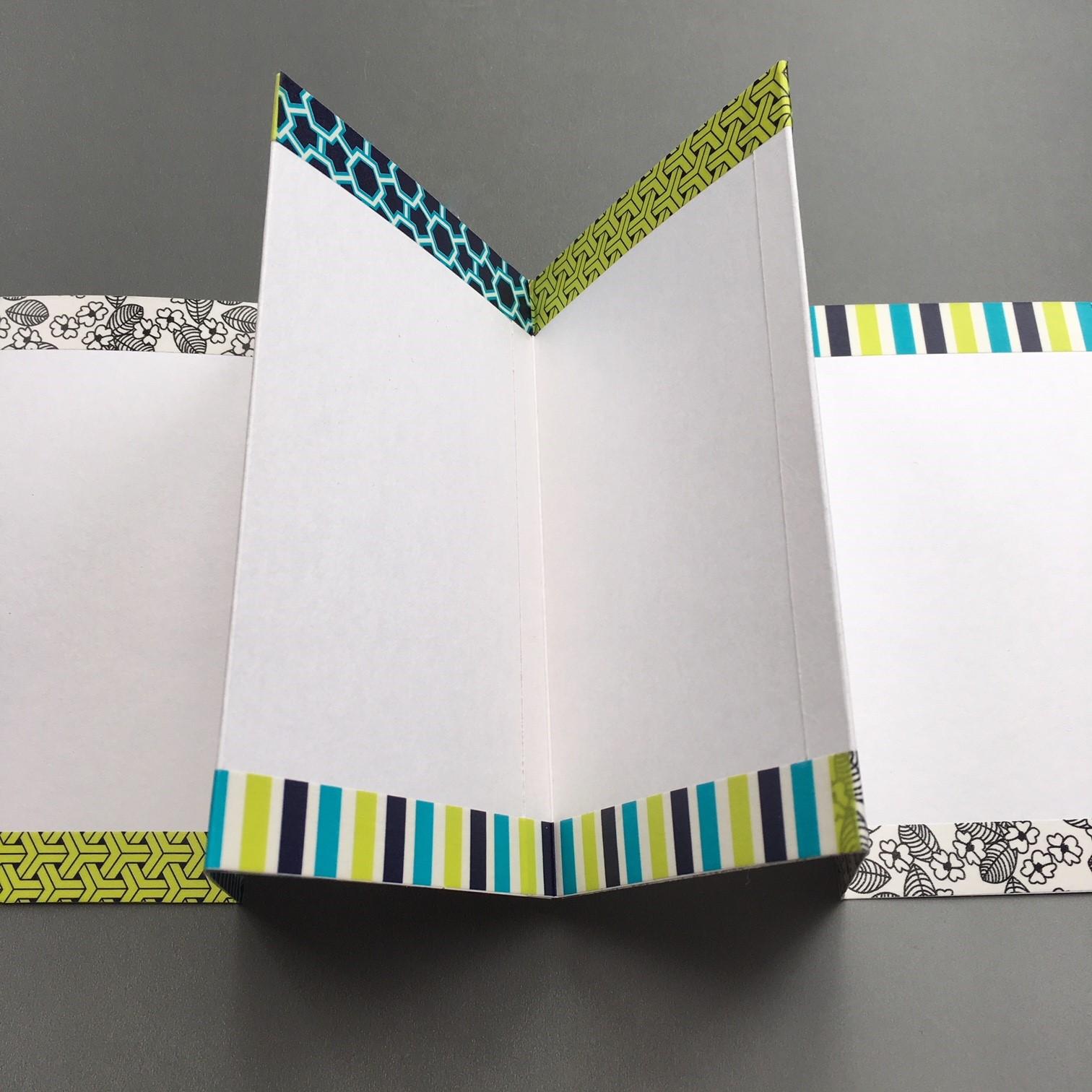 Washi decorated pocket envelope notebook