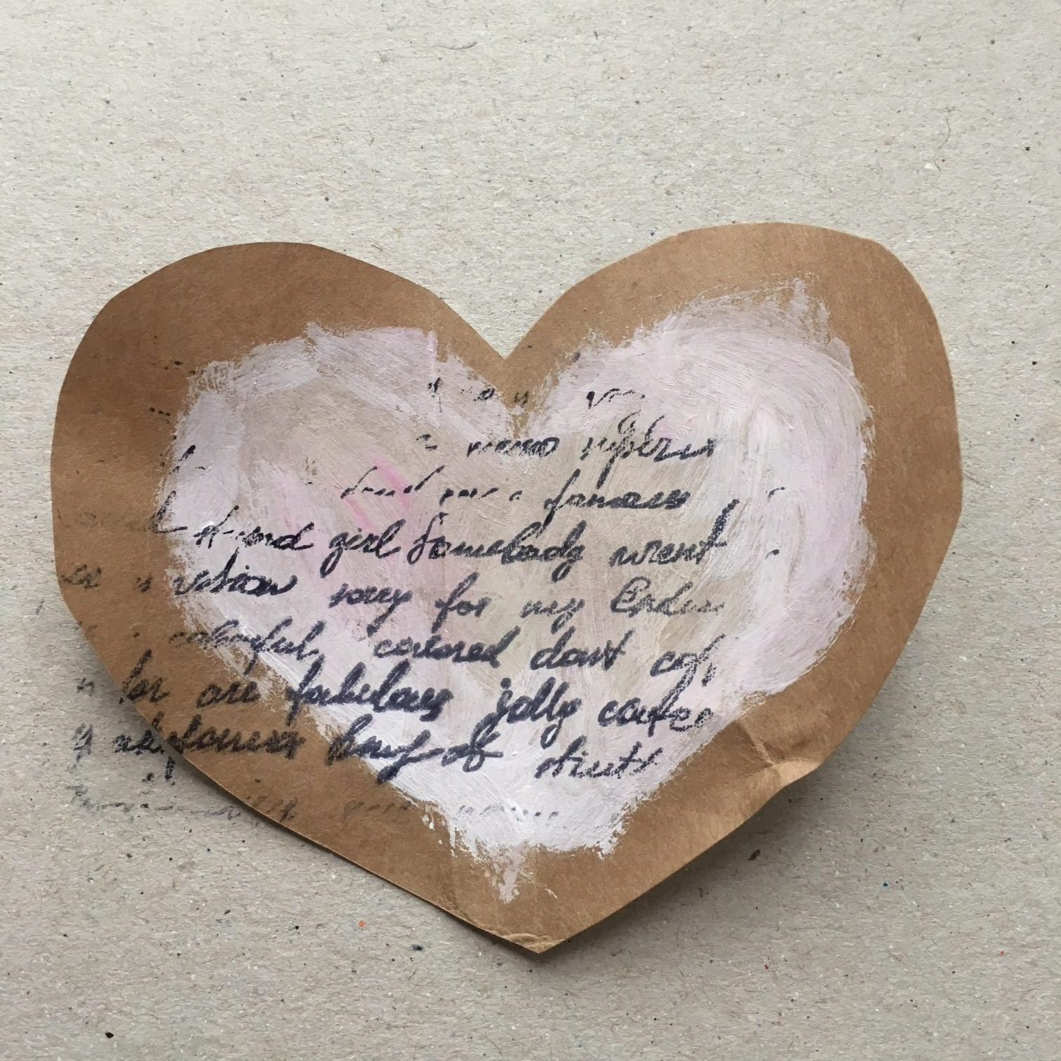 stamp or better write something in the middle of the hearts