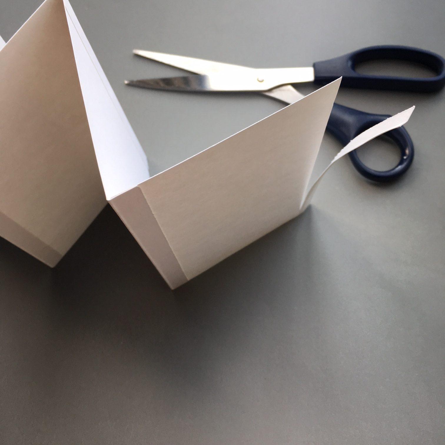Washi decorated foldable notebook
