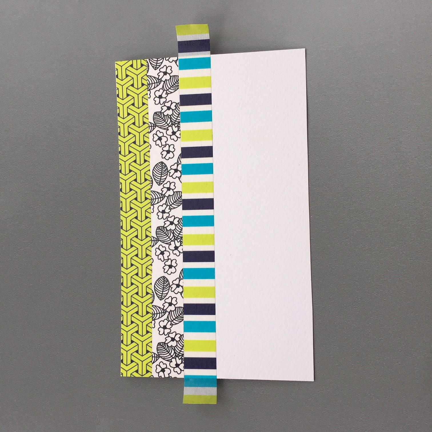 Washi decorated pocket envelope notebook - making the covers