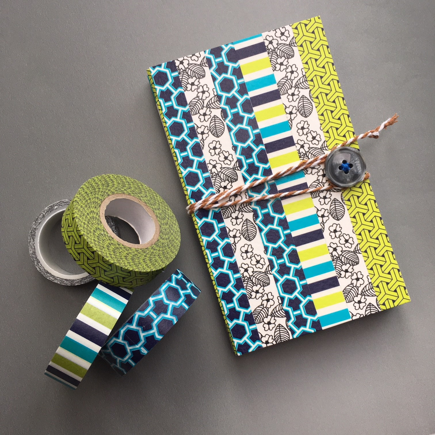 Washi decorated envelope pocket notebook with Washi tape