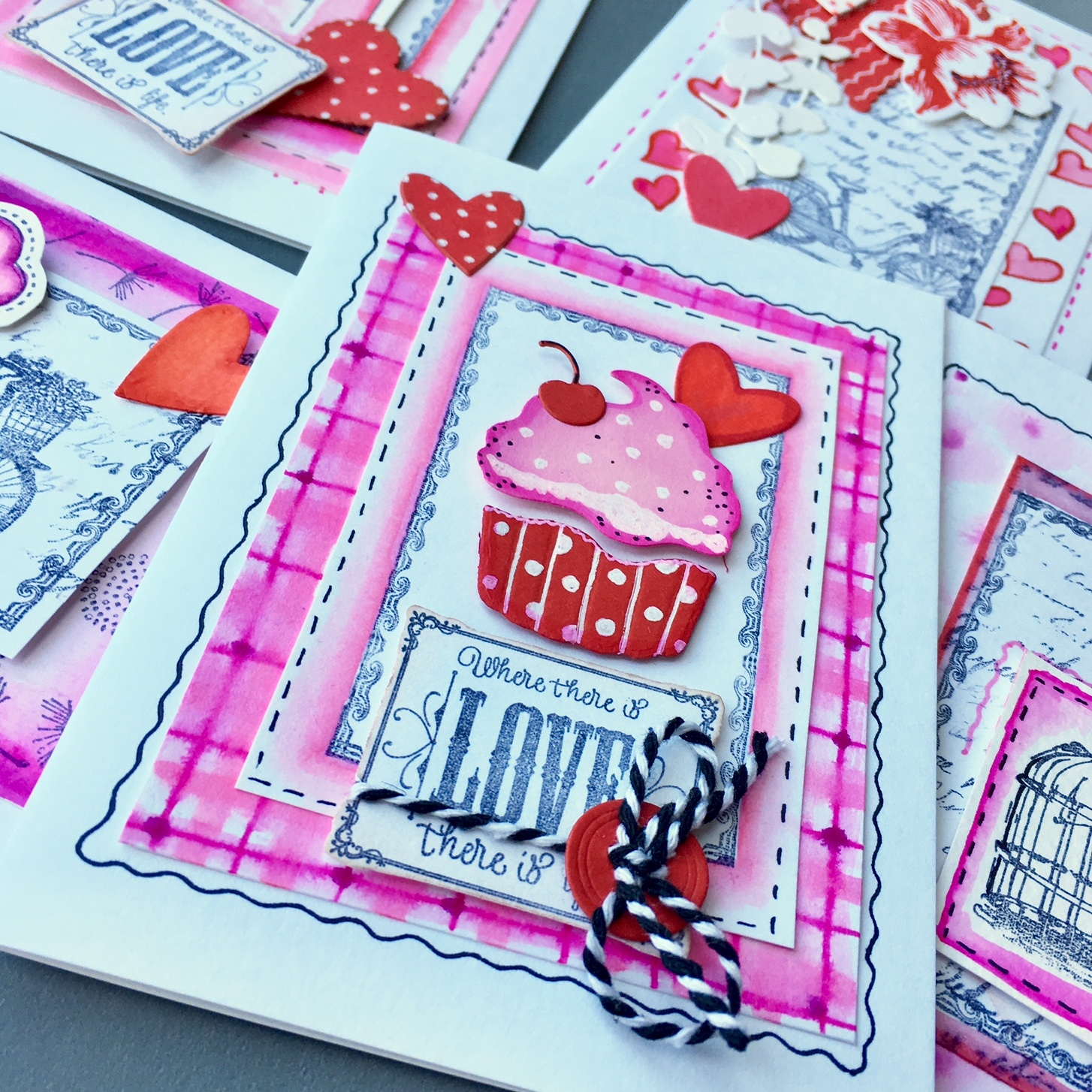 Valentine's greeting cards, made following Capsule craft philosophy