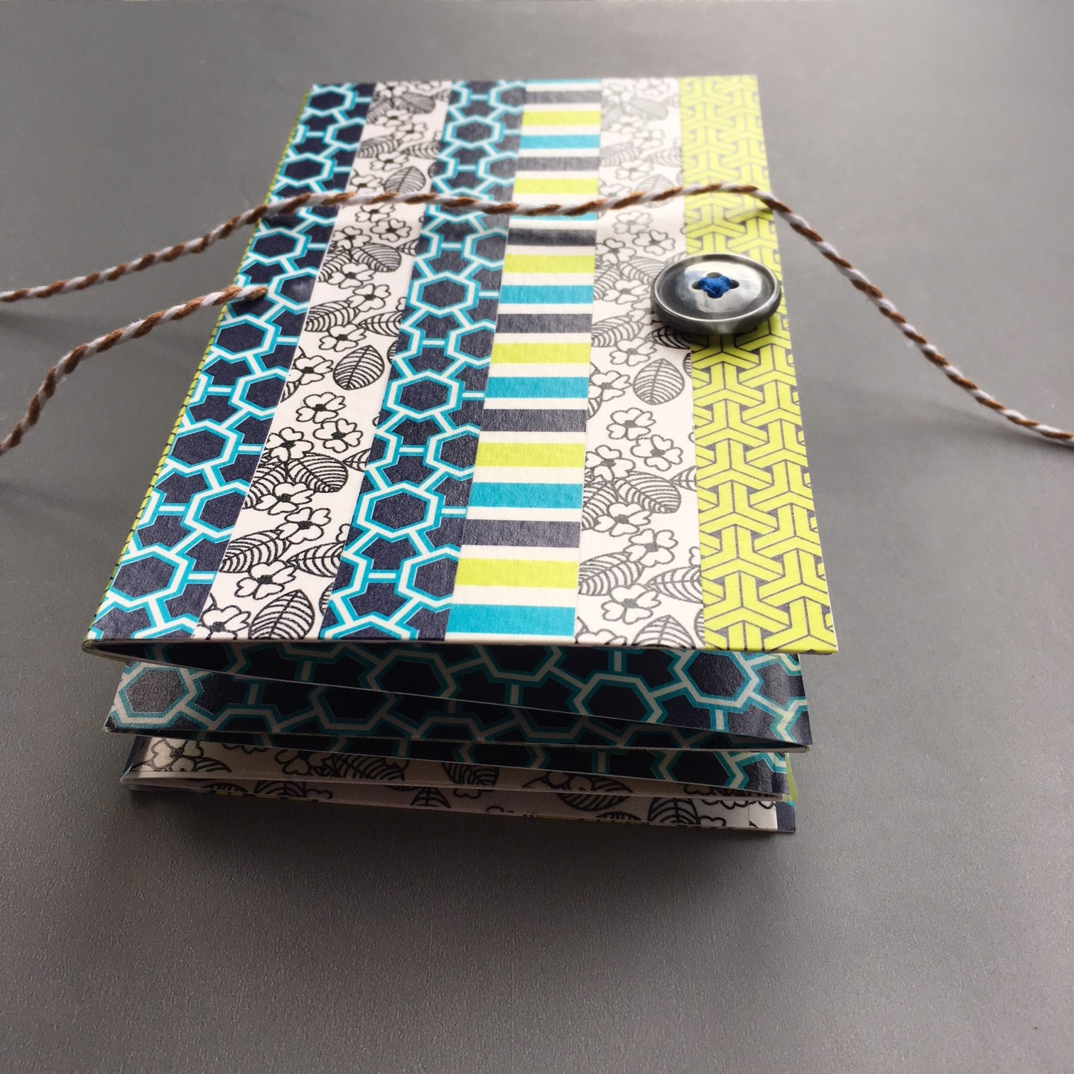 How to make Washi decorated pocket envelope notebook