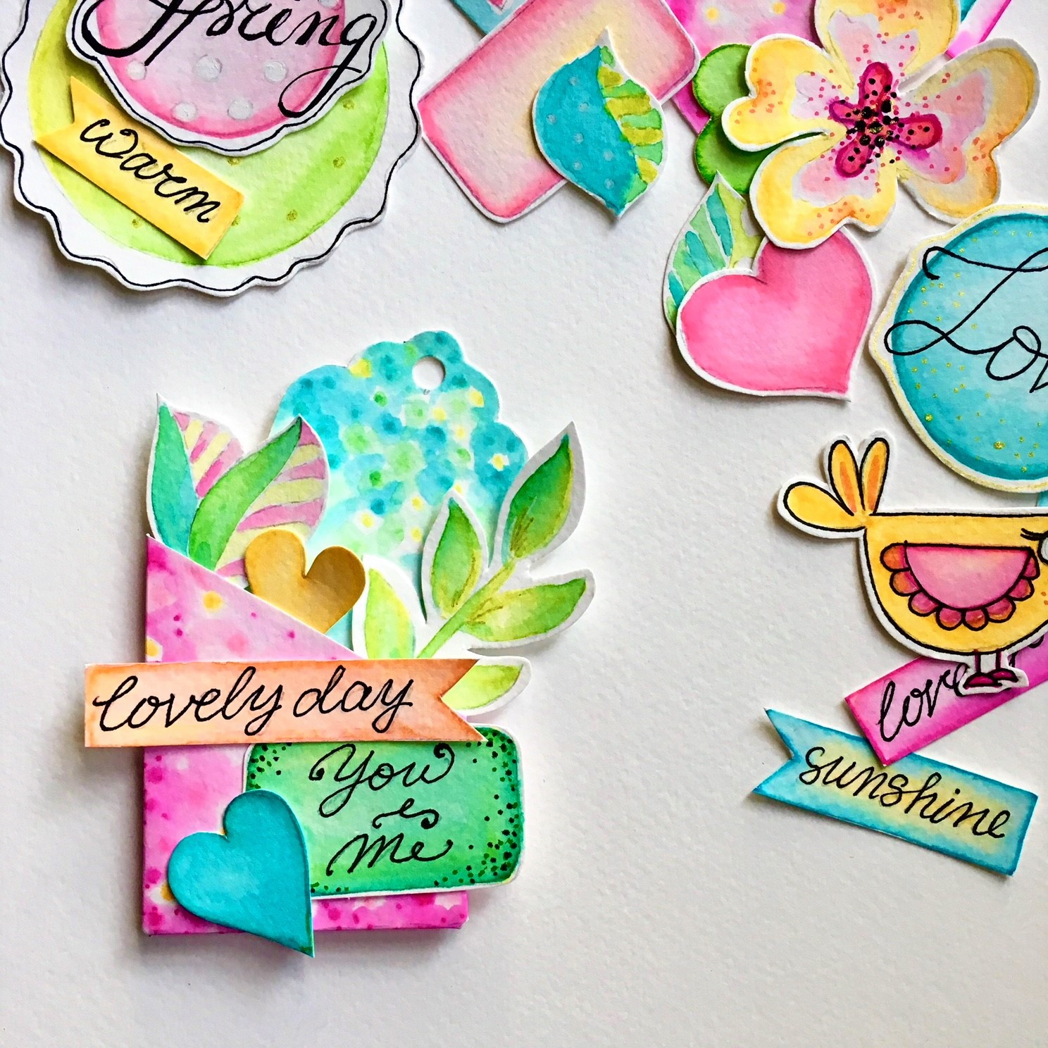 DIY scrapbook embellishments for your own small business