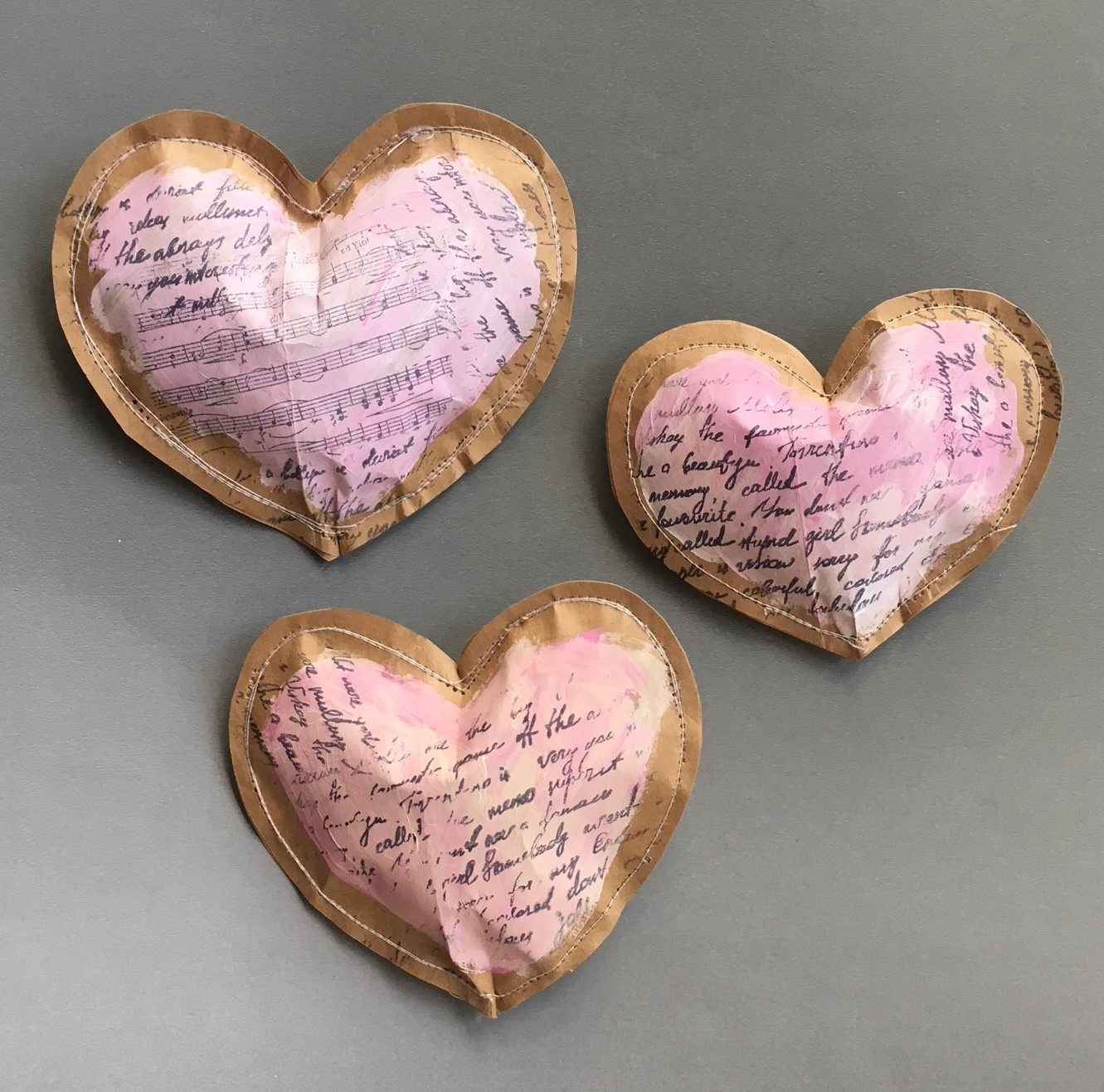 the brown bag paper hearts are ready now