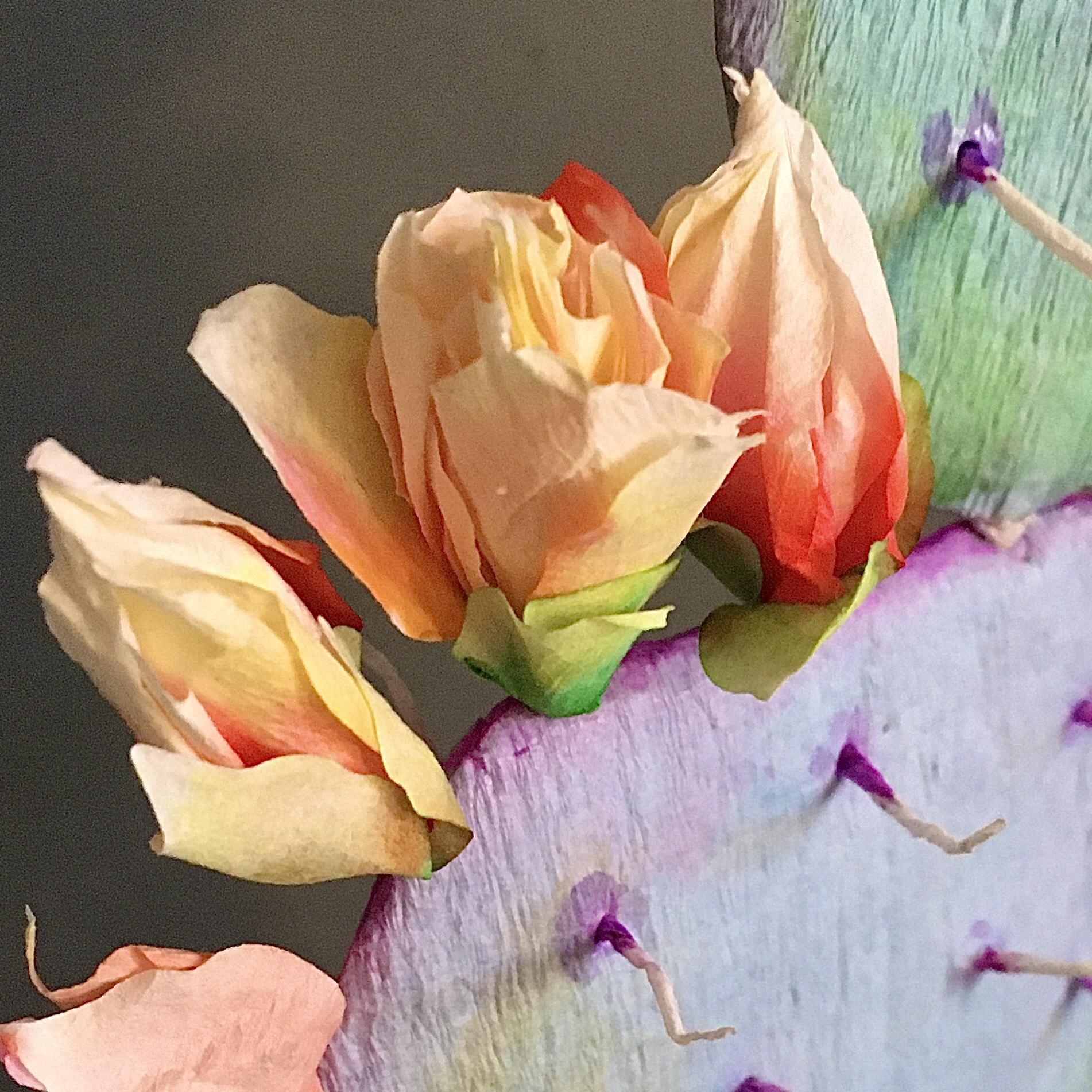 DIY flowering paper cactus - step by step tutorial