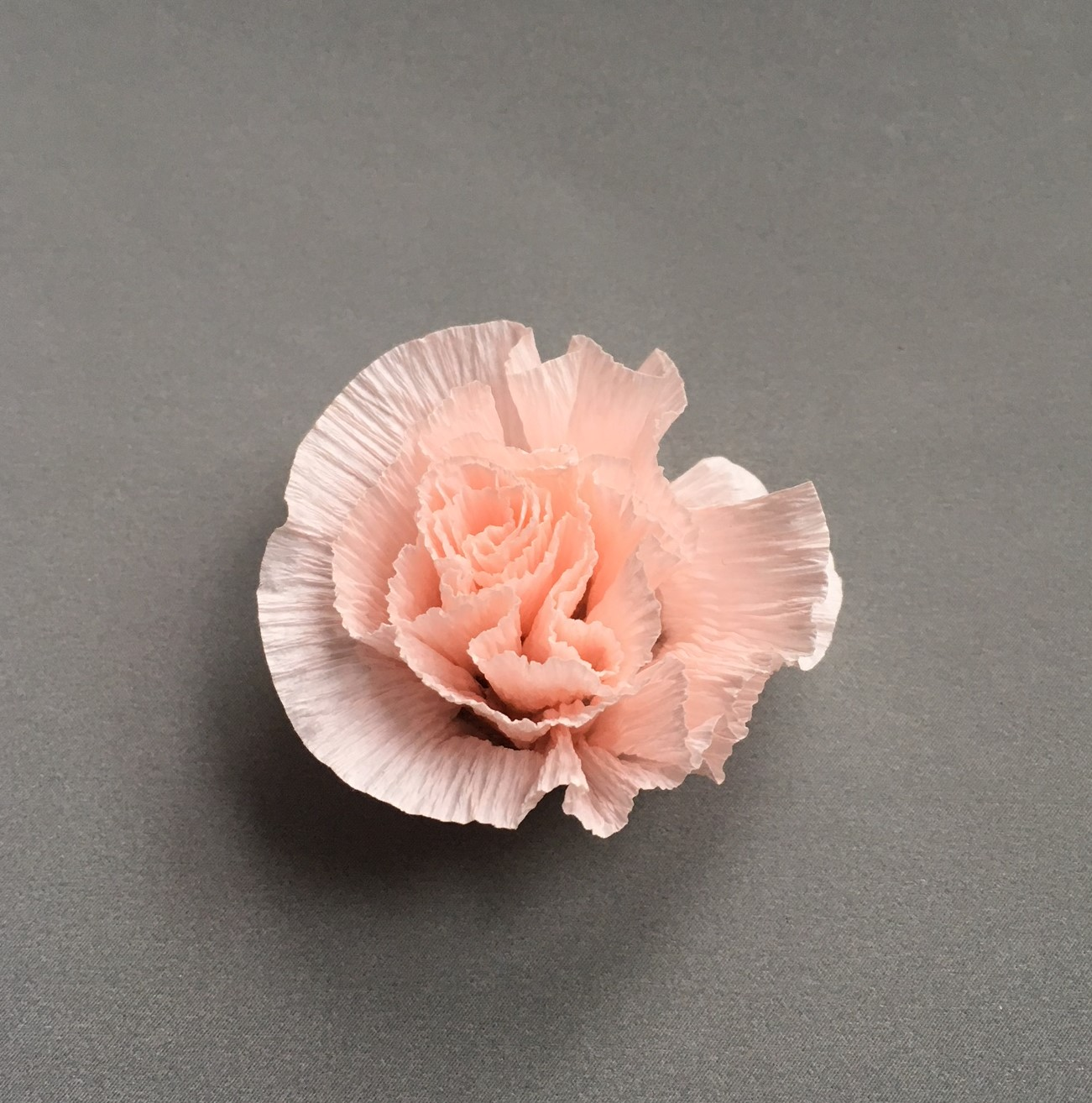 little paper rose (or carnation) for floral candle glass decoration