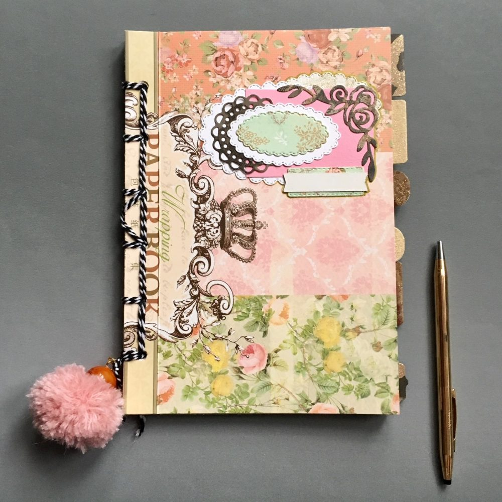 DIY smash journal book from unwanted paper