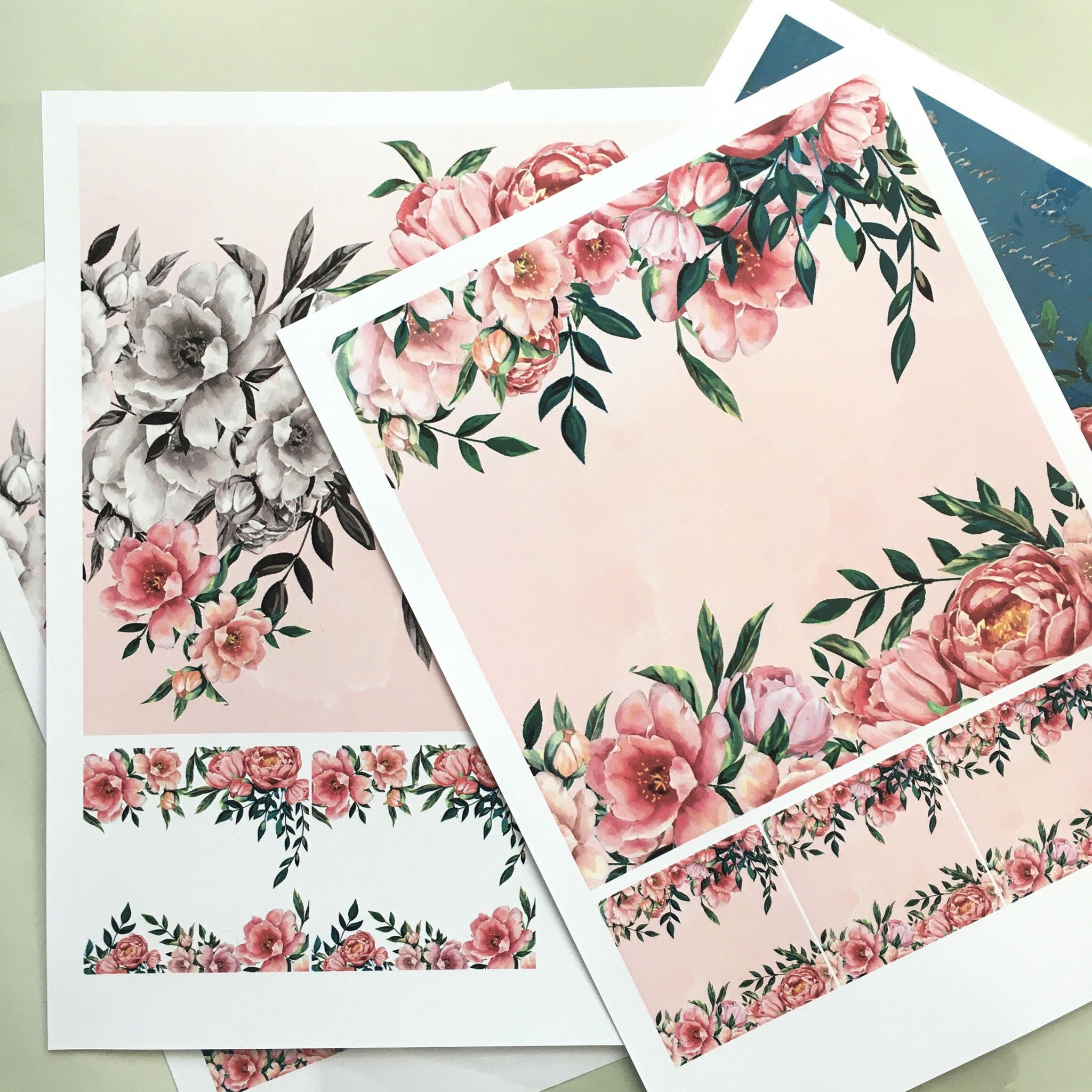 Easy Girly DIY planner - printable paper pack designs