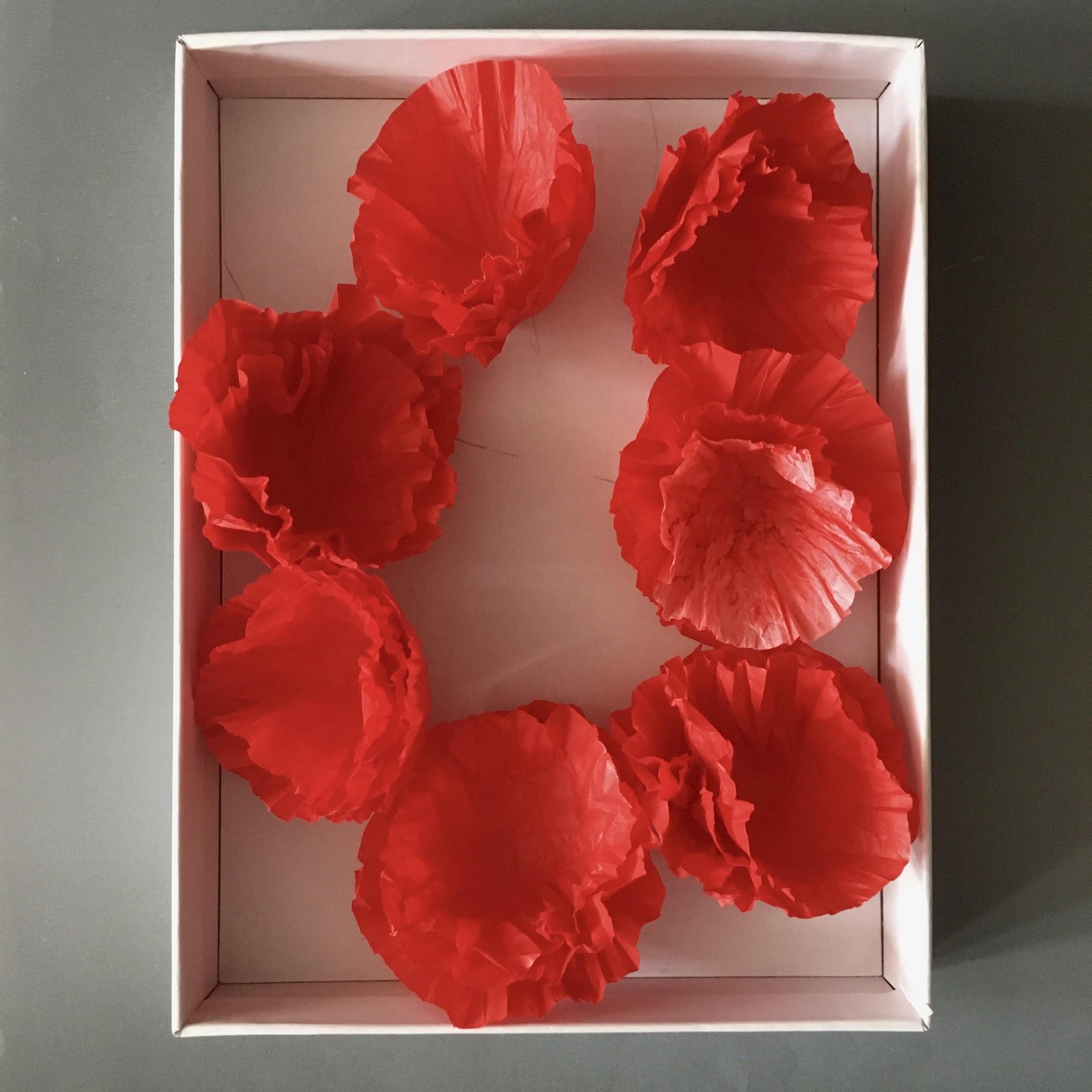 ANZAC tissue paper poppies - DIY decoration ideas