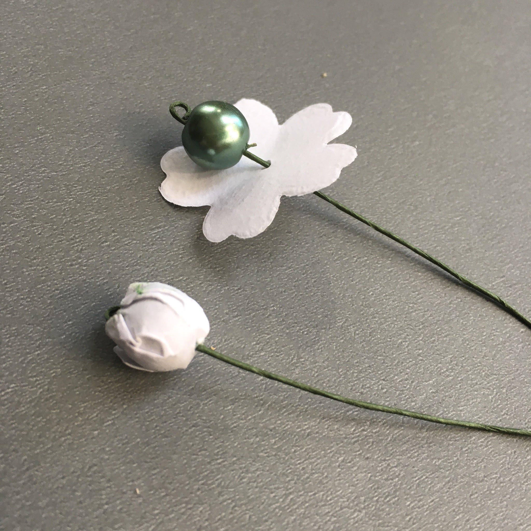 making the flower buds