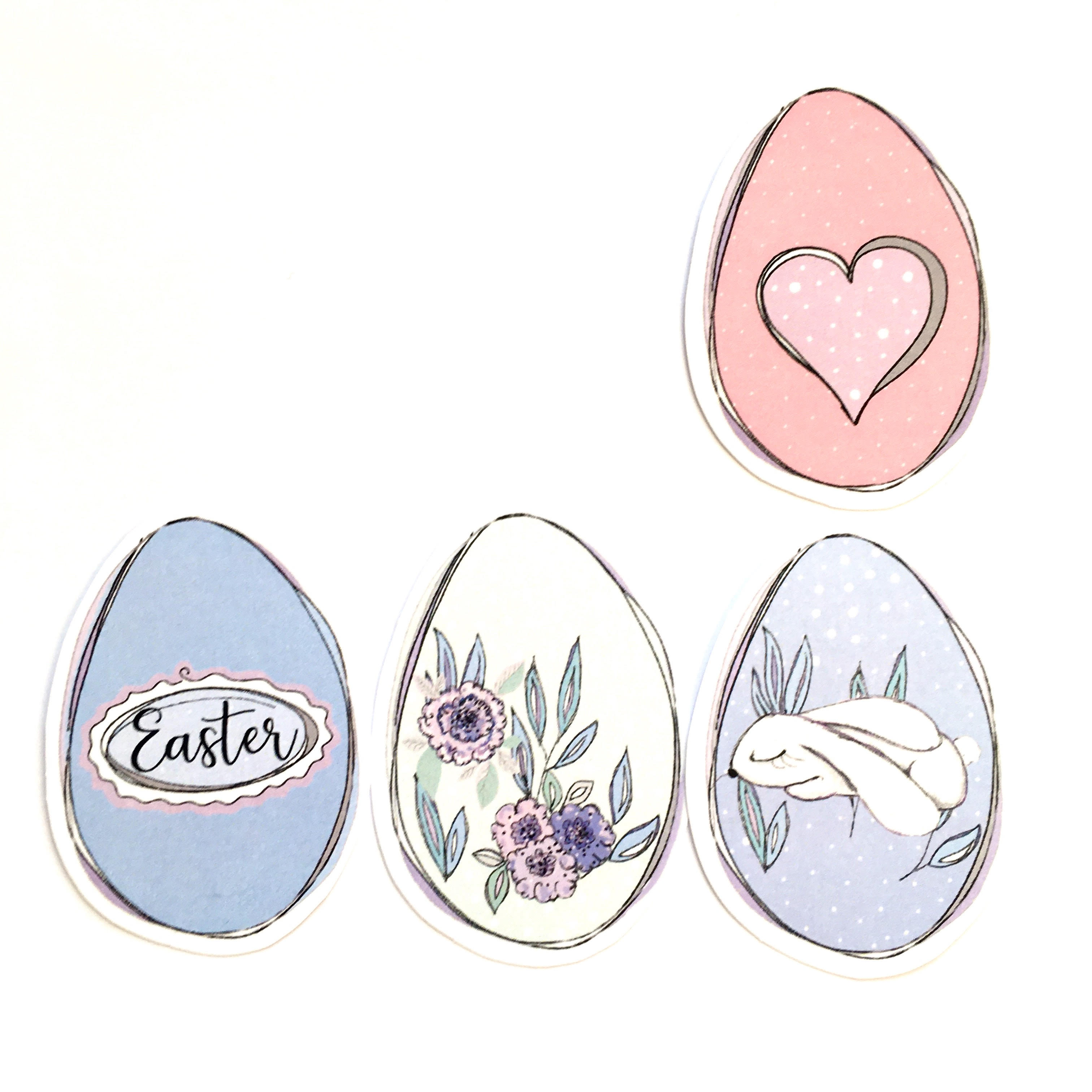 how to play a story telling game with printable Easter eggs