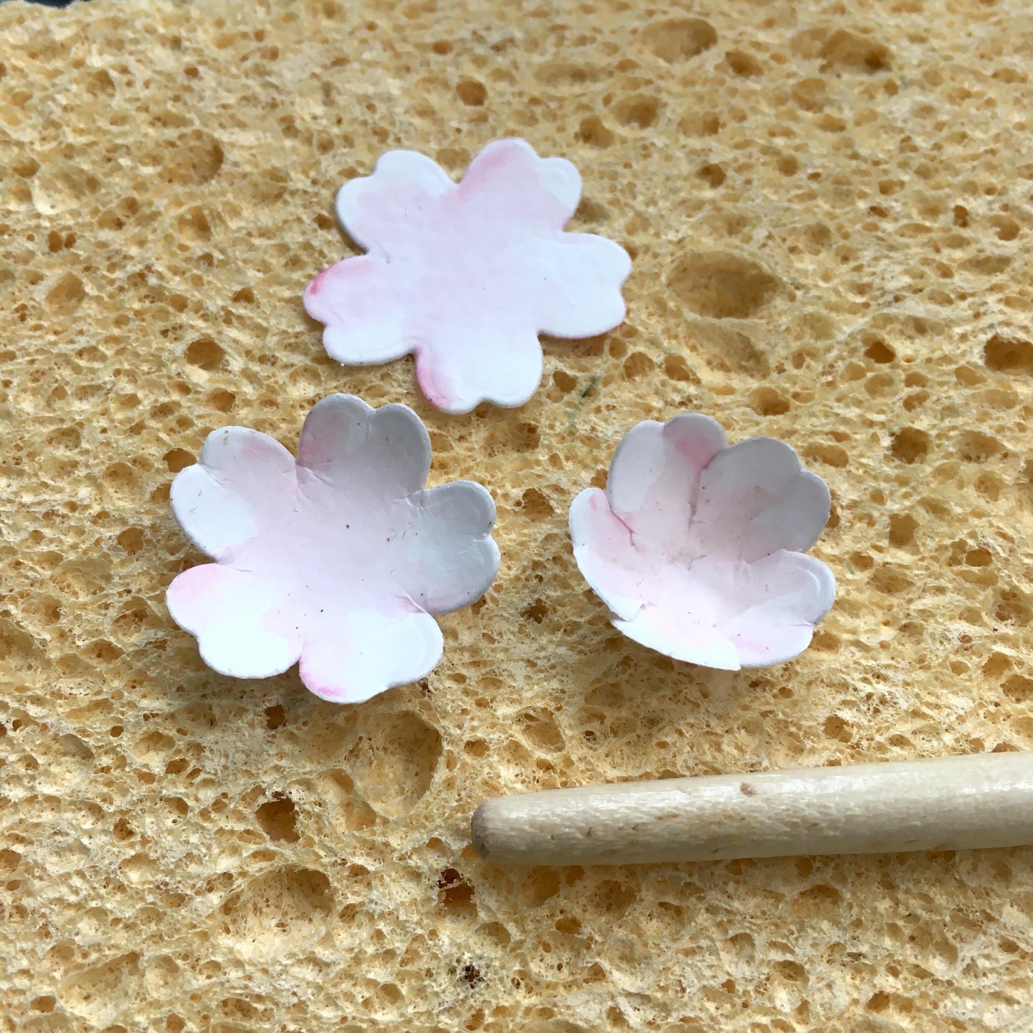 Easy Spring blossom tutorial - repurposing flower shaping instruments