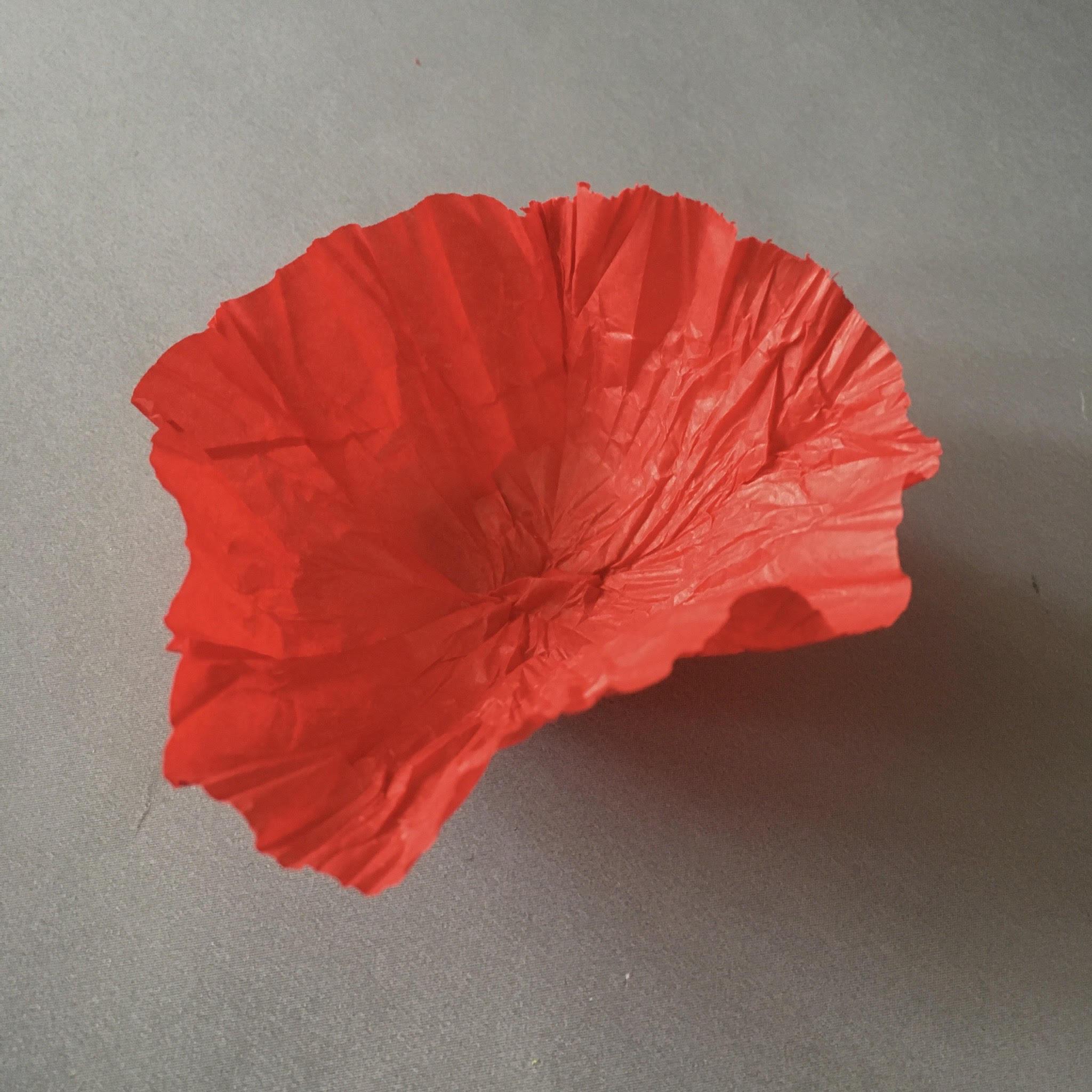 ANZAC poppy flowers DIY