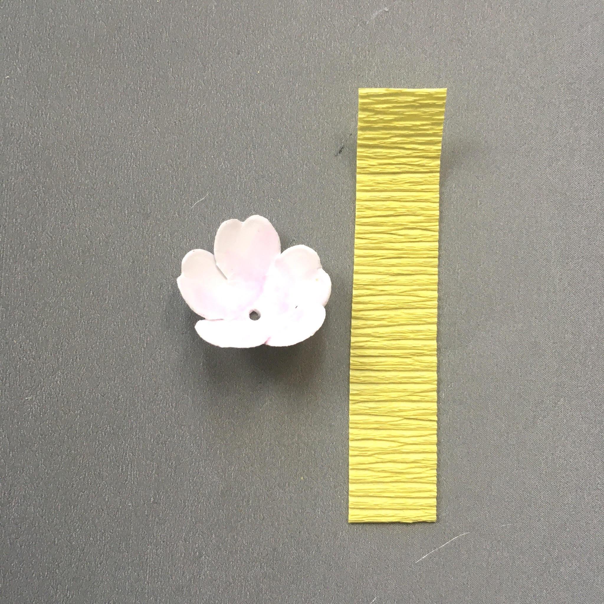 Spring blossom tutorial - how to make the stamens
