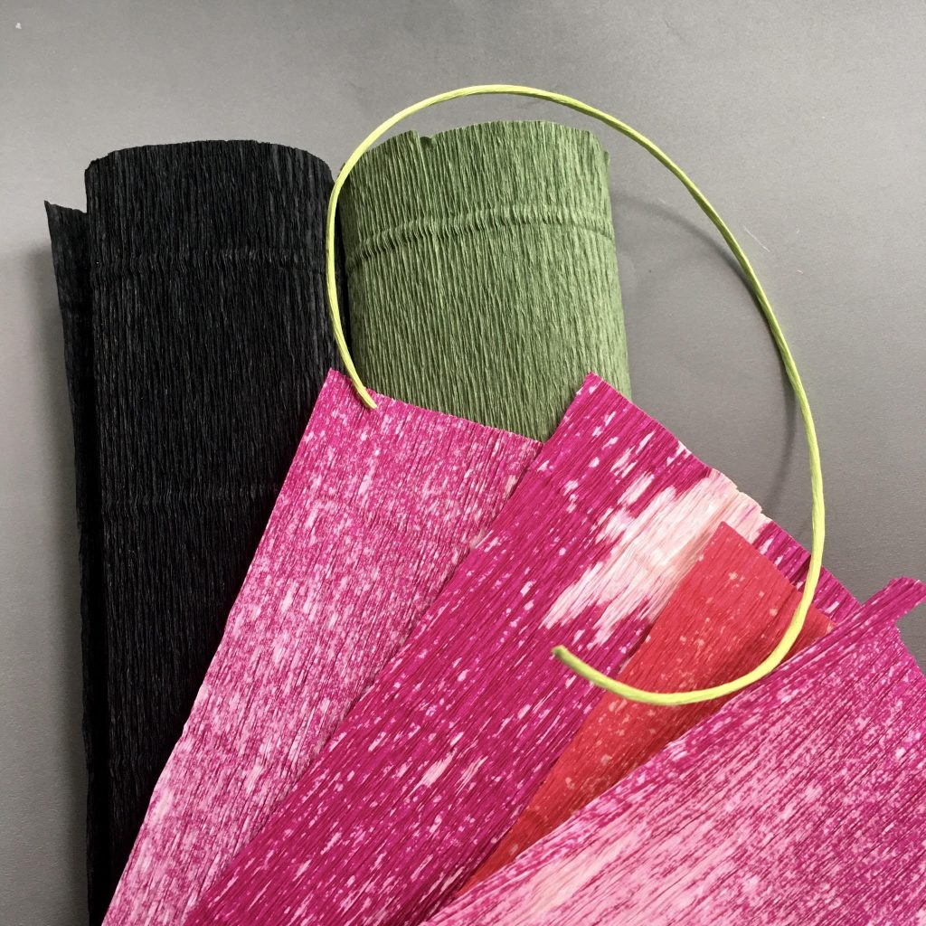 crepe paper for easy tulip flower project