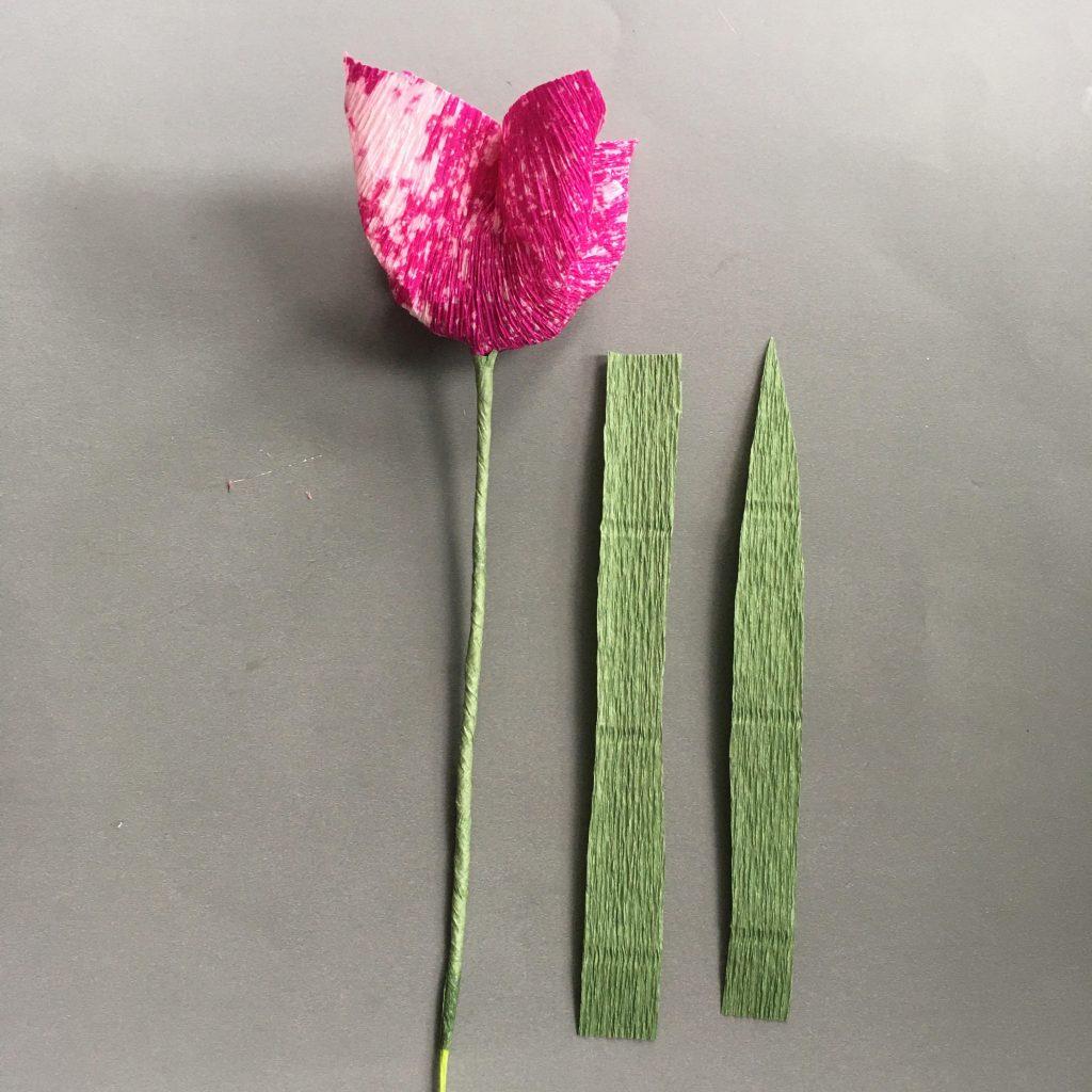 making crepe paper tulip