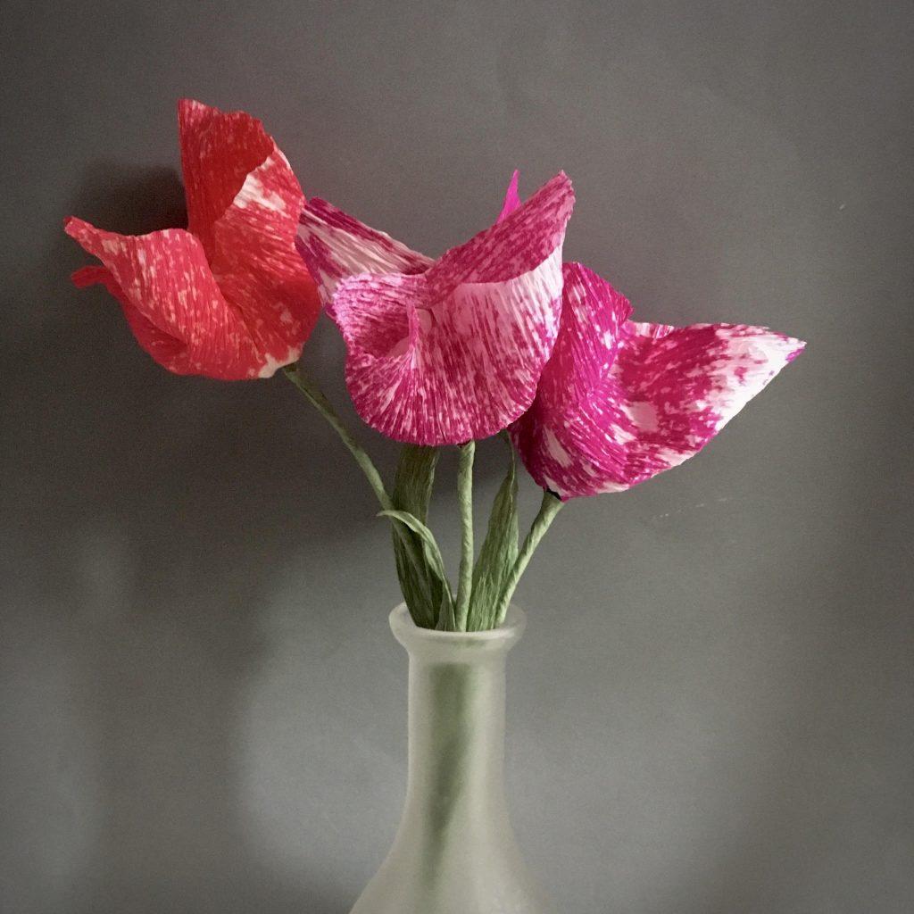crepe paper tulip DIY