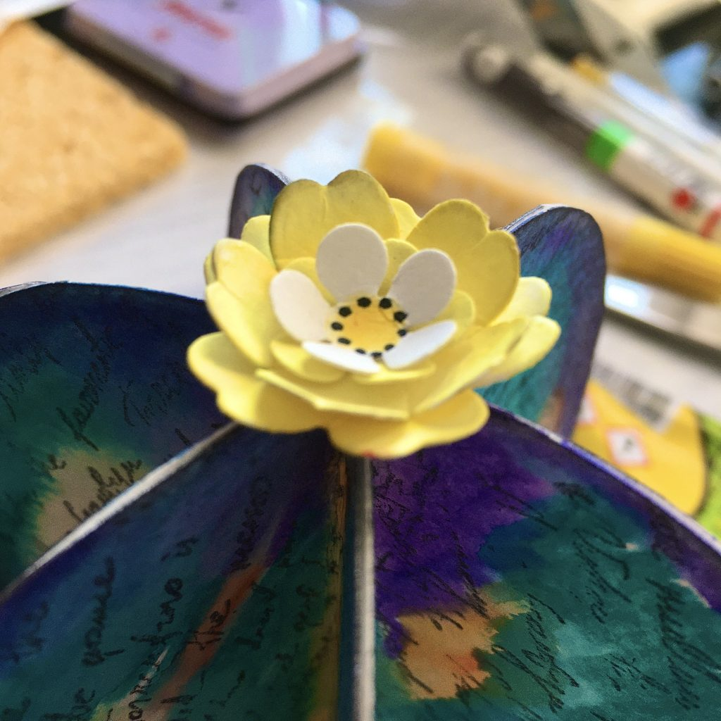 decorate your paper cactus with paper flower