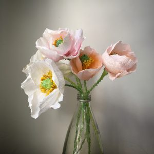 Crepe paper Iceland poppy from crepe paper - detailed step by step tutorial