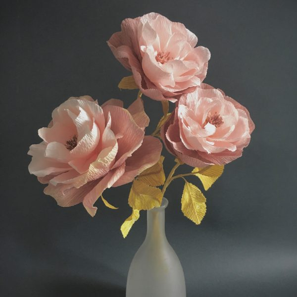Bonica Shrub rose printable tutorial