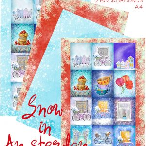Snow in Amsterdam romantic cozy winter scrapbook embellishments