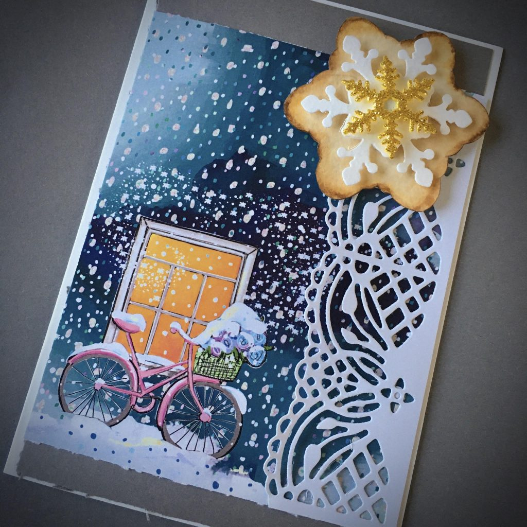 "How to save money on craft materials before Christmas: now I am making my embellishments myself - Christmas ""cookie"" star from paper and glitter foam"