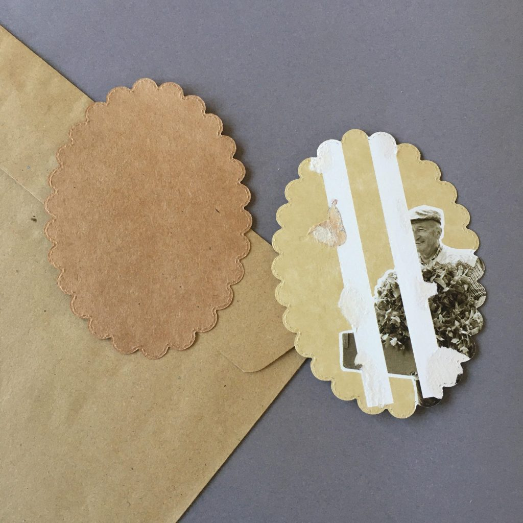 "How to save money on craft materials before Christmas - with their natural brown colours paper boxes are a source for wonderful ""vintage"" elements"