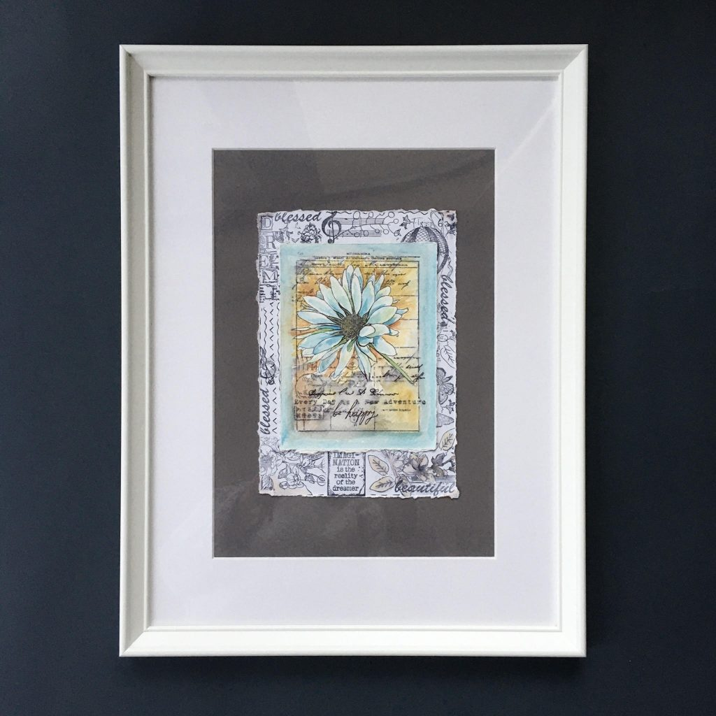 framing with IKEA frame. Now our wall art Christmas gift is ready