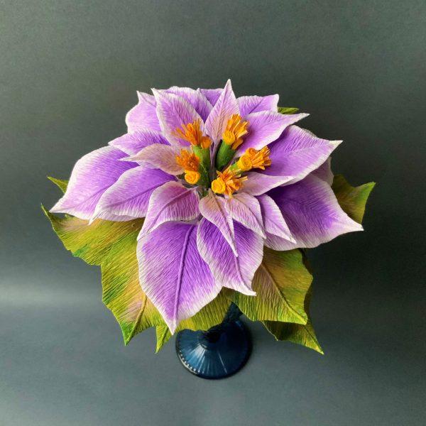 purple Poinsettia Christmas decoration