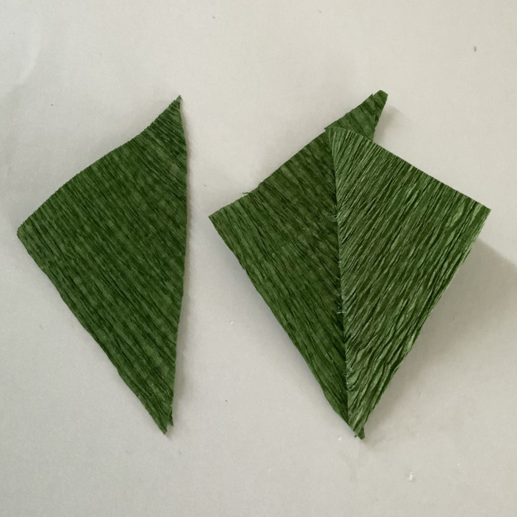 making the peony green stem leaves