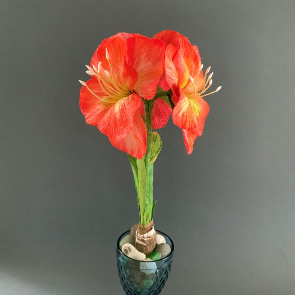 printable tutorial for crepe paper Amaryllis flower