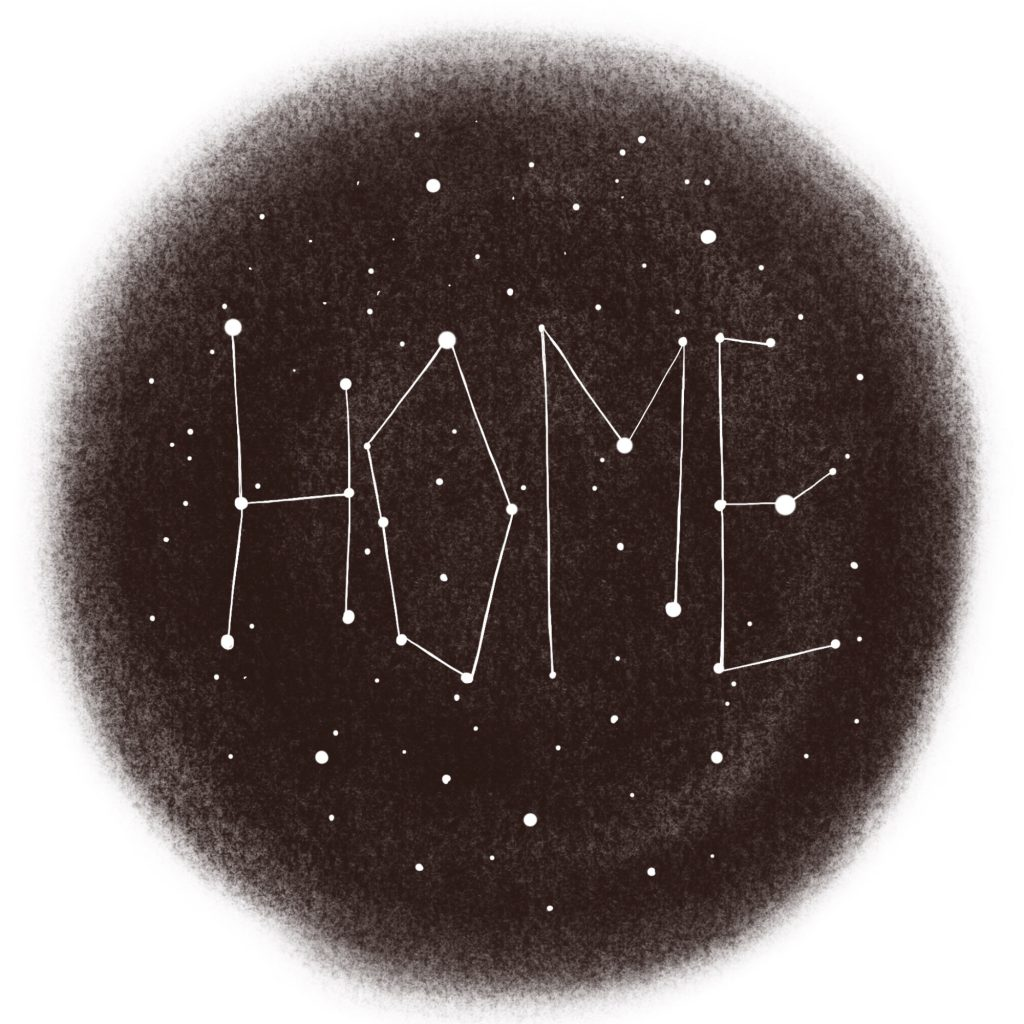 Christmas constellations drawing