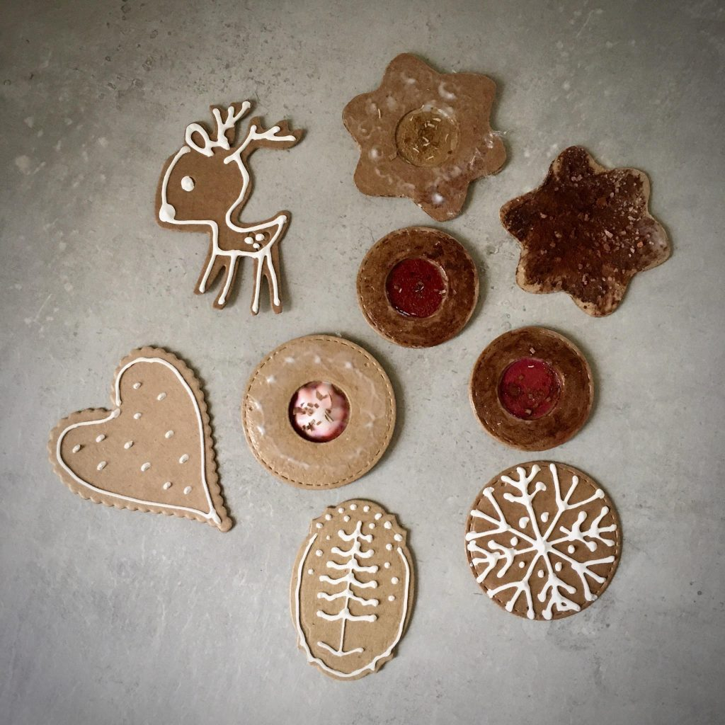 "my finished gingerbread paper ""cookies"""
