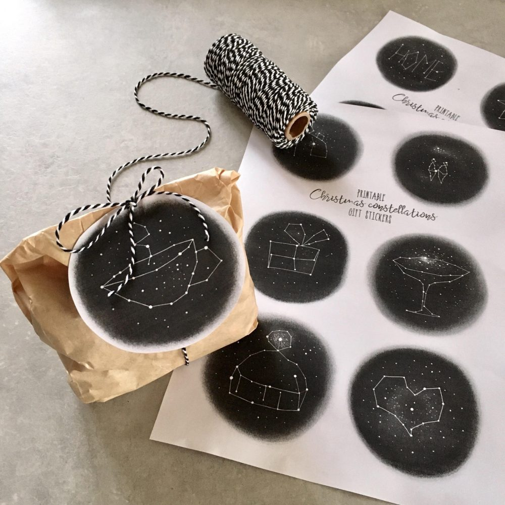 Christmas constellations stickers