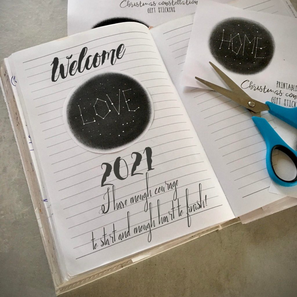 Create your own Christmas constellation stickers for your journal or planner