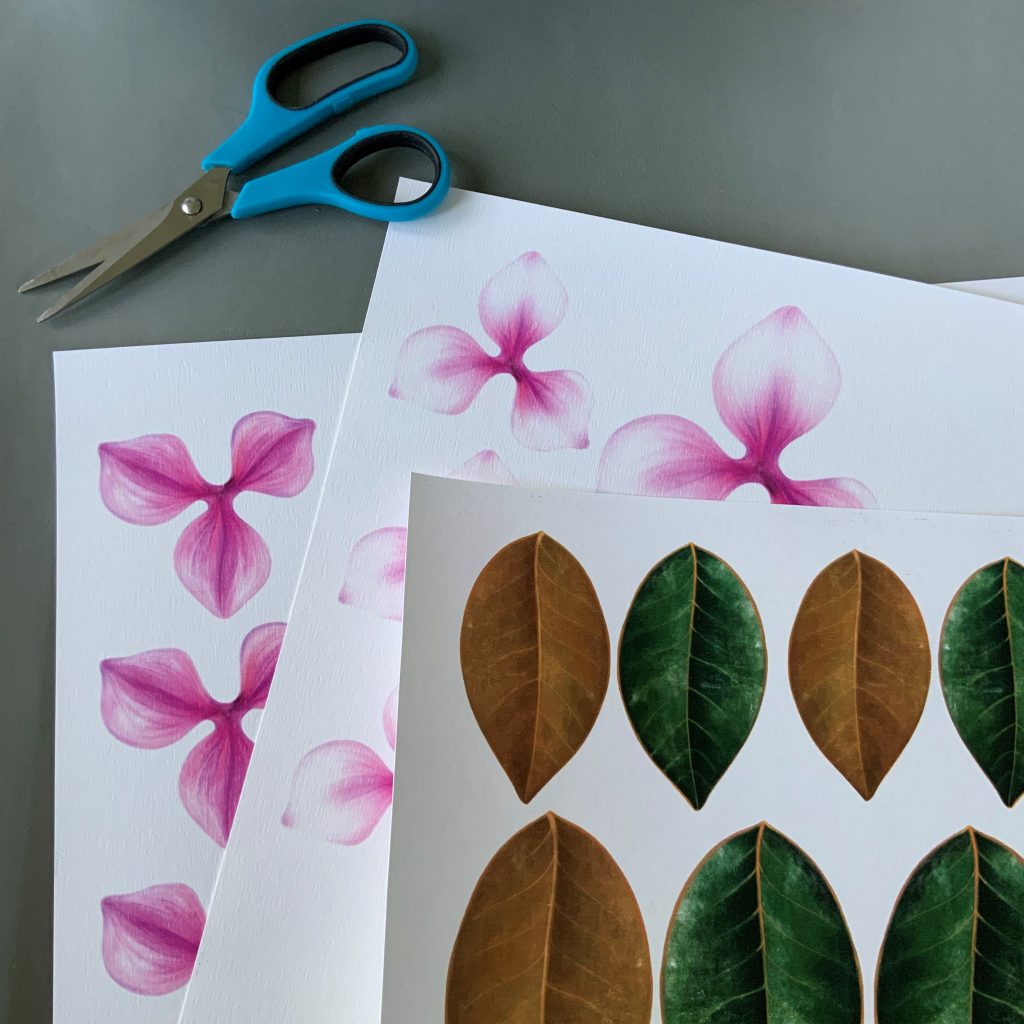magnolia wall art templates