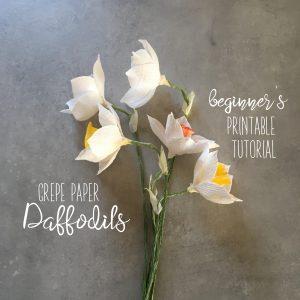 crepe paper Daffodil tutorials