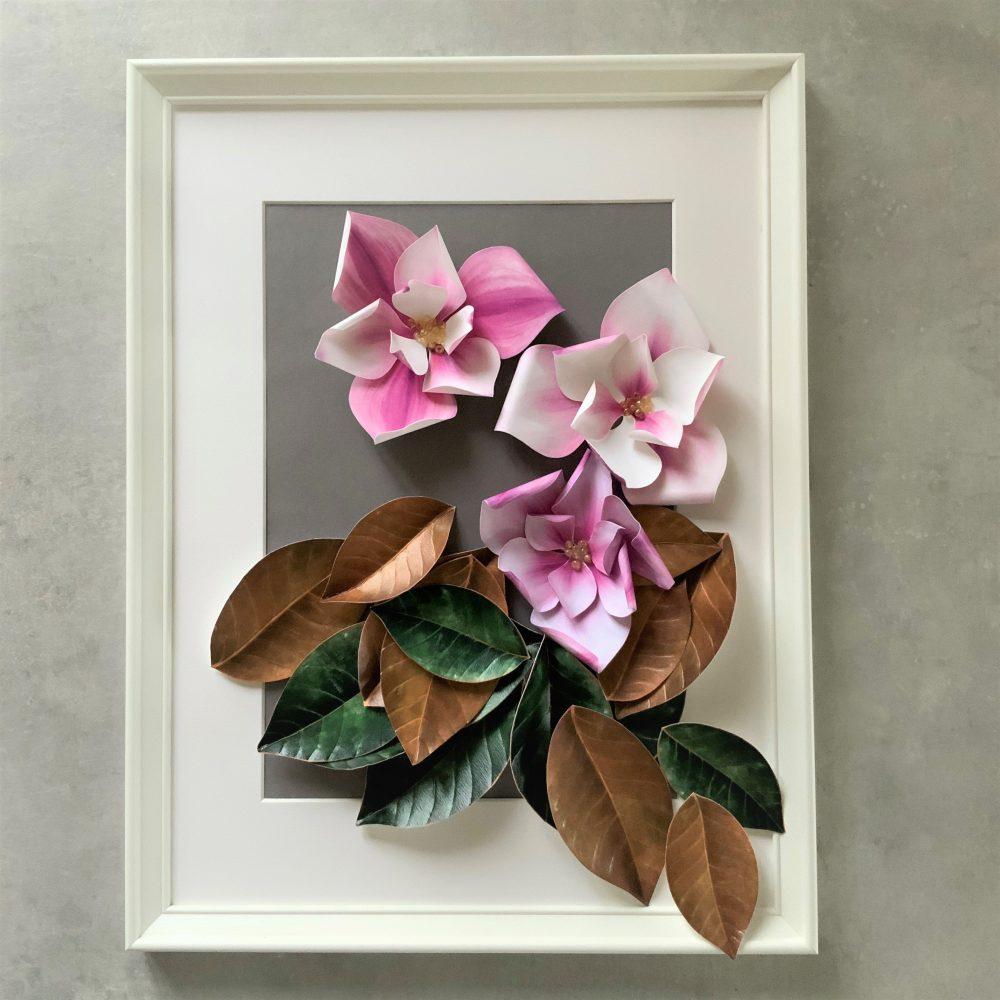 Paper Magnolia wall art
