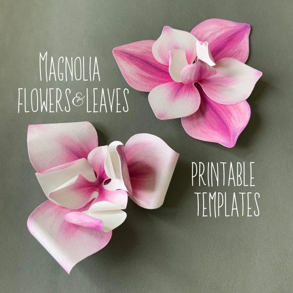 DIY magnolia flowers