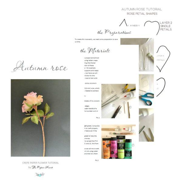 crepe paper Rose DIY step by step tutorial