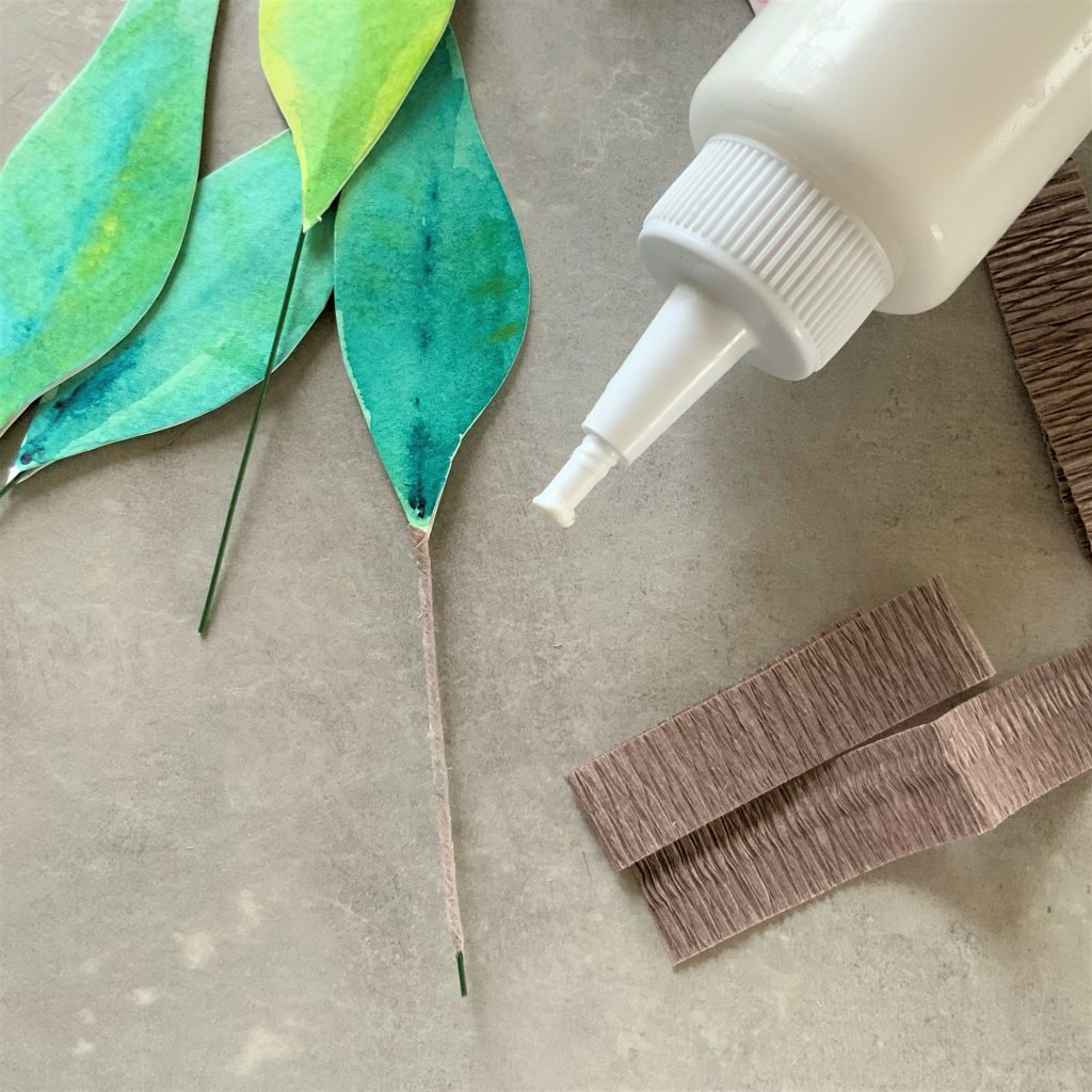 How to DIY watercolour paper Protea flower - making the leaves