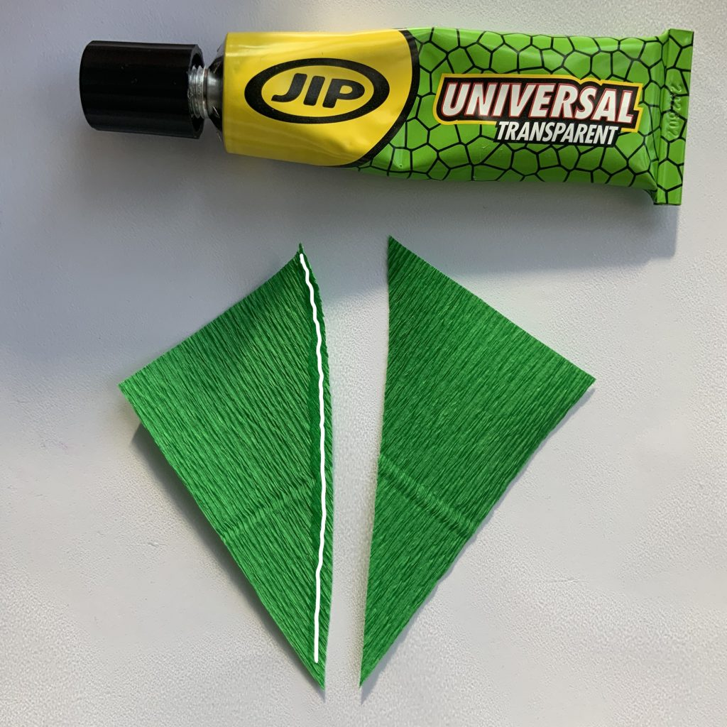 how to make crepe paper leaves - very easy way