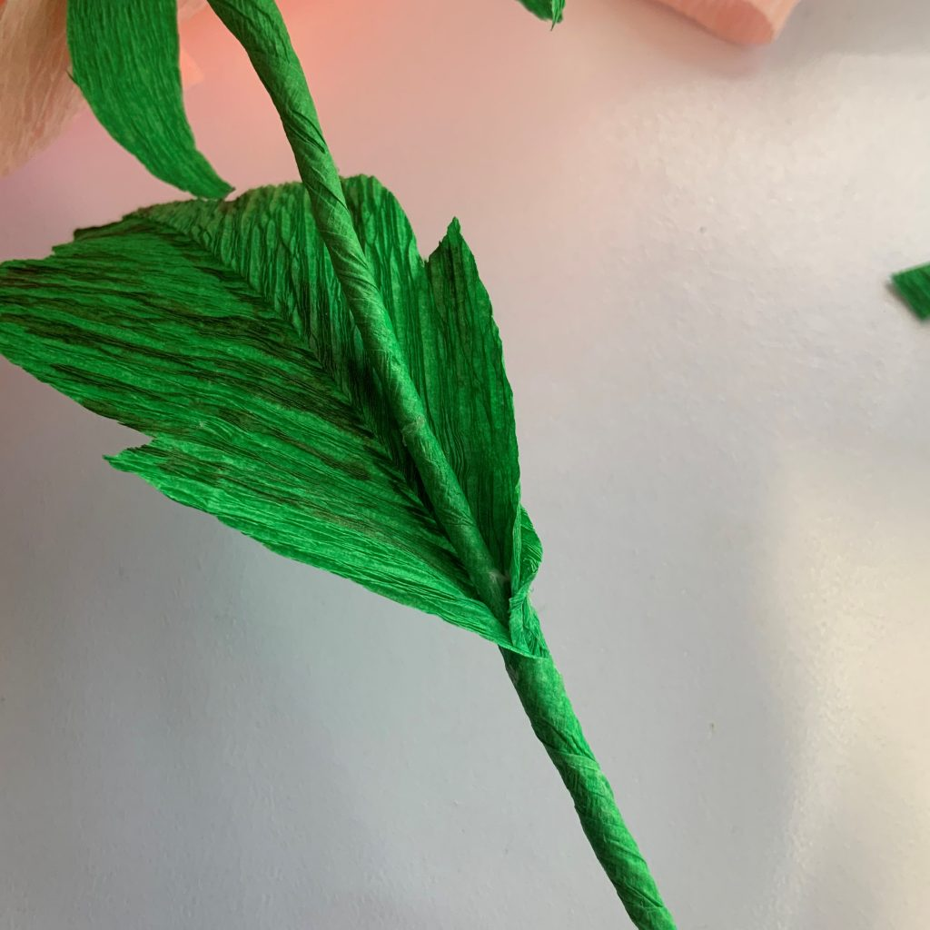 how to make the Peony stem