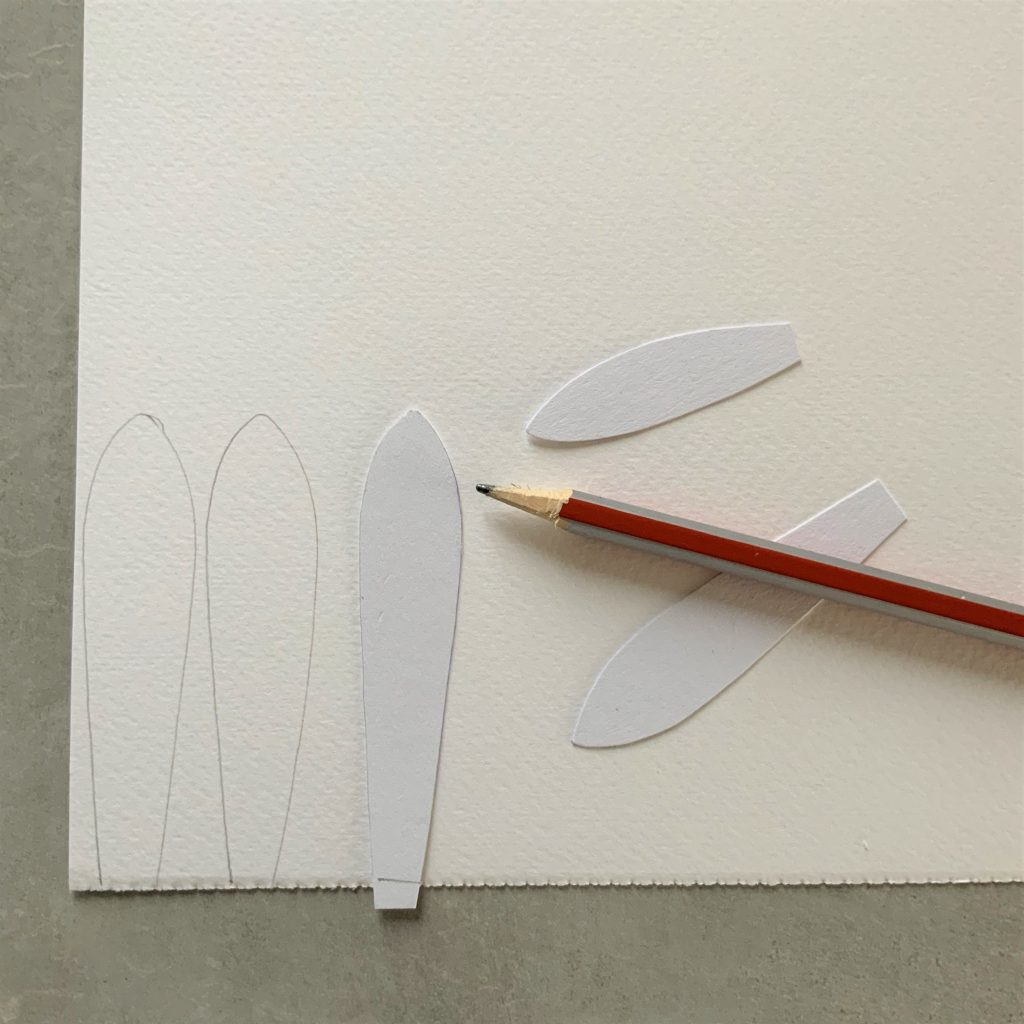 start making the Protea watercolour flower my creating petal templates
