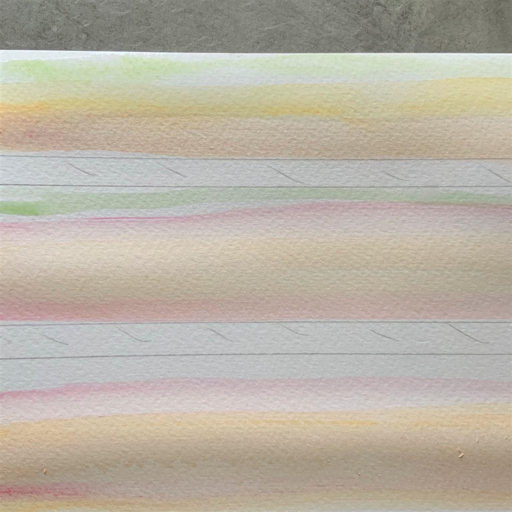 also colour the stamens, using the watercolour technique