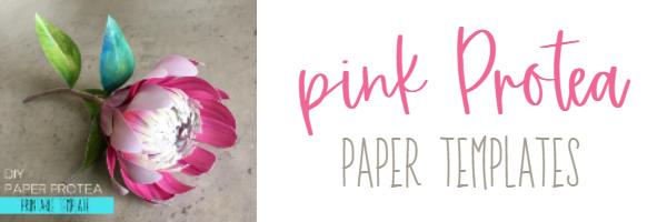 paper Protea printable templates