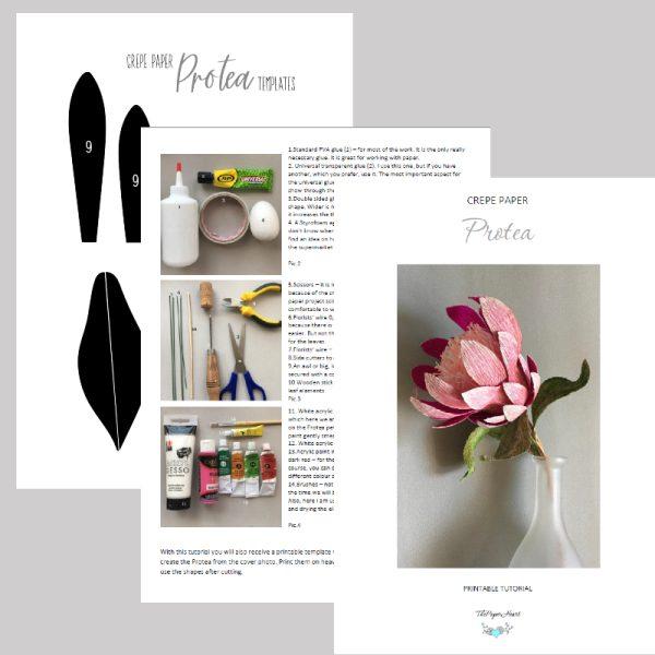 Crepe paper Protea