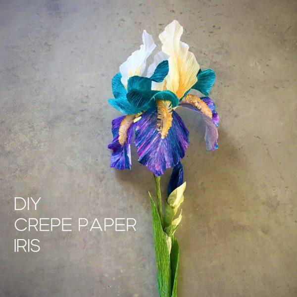 DIY crepe paper Iris tutorial and templates