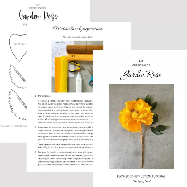 crepe paper Rose construction tutorial